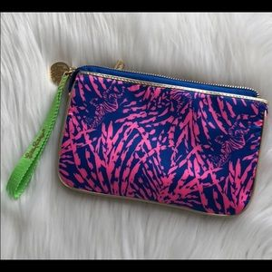 Lilly Pulitzer Pink & Blue Wristlet